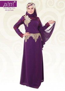 baju pesta muslim aini bunda 029 purple