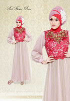 gamis trendy Define Red Flower