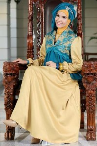 Rj 07 tosca-kuning gold dress bunda