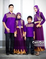 busana muslim couple family Gaun-Pesta-Muslim-Cantique-1409-Ungu