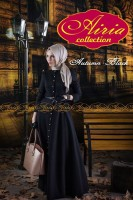 baju pesta wanita dewasa Gaun-Pesta-Muslim-Autumn-Dress-Dan-Rain-Koko-Black