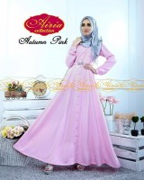 baju pesta resmi Gaun-Pesta-Muslim-Autumn-Dress-Dan-Rain-Koko-Pink