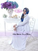 model baju muslim modern wanita Gaun-Pesta-Muslim-City-Dress-by-Airia-Snow-White