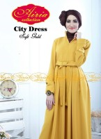 busana pesta wanita muslimah Gaun-Pesta-Muslim-City-Dress-by-Airia-Soft-Gold