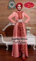model baju pesta Gaun-Pesta-Muslim-Agatha-Dress-by-Airia-Pink-Salmon