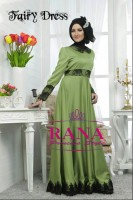 model baju pesta muslim elegan Gaun-Pesta-Muslim-Fairy-Dress-Hijau