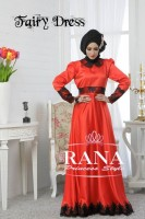 model baju pesta elegant Gaun-Pesta-Muslim-Fairy-Dress-Merah