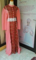 model baju pesta yang elegan Gaun-pesta-Muslim-Agamis-Dress-Pink Salmon