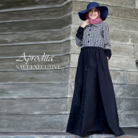 busana muslim aprodita by salt executive black