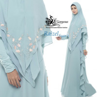 gamis syar'i raizel syar'i by Lil gorgeous Soft blue
