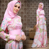 model gamis terbaru adara dress by cynarra pink