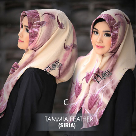 jilbab tammia motif feather C