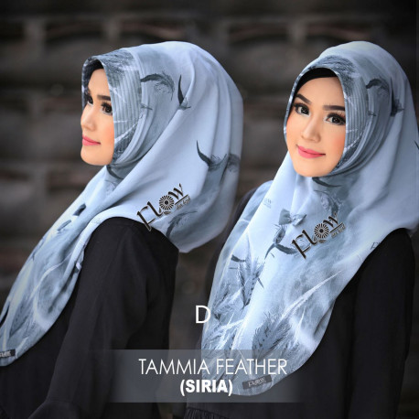 jilbab tammia motif feather D