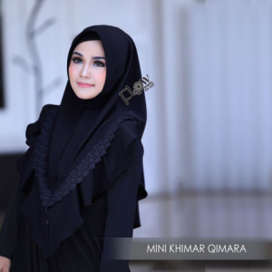 Mini Khimar Qimara Black
