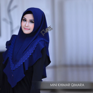 Mini Khimar Qimara Navy