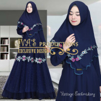 Vintage Embroidary Navy