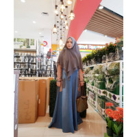Shereen Denim Brown