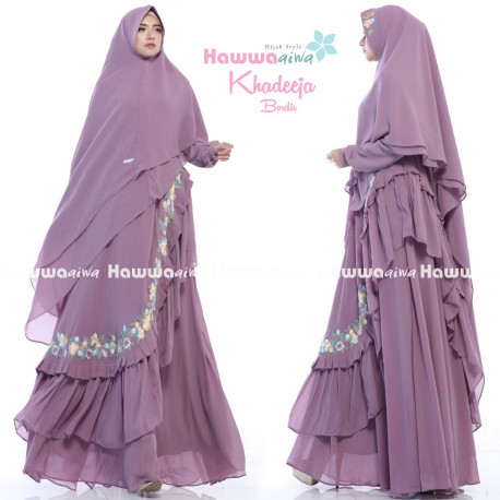Khadeeja Bordir Purple
