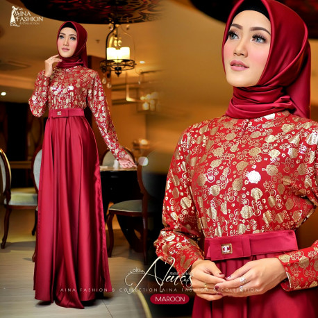 Almas Dress MaroonAlmas Dress Maroon