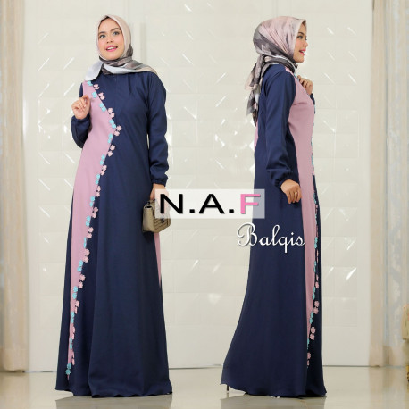 Balqis Dress Navy