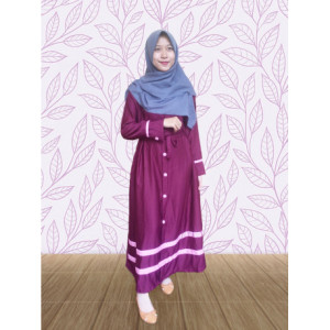 Mayori Dress Maroon