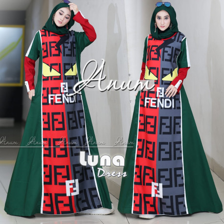 Luna Dress Green