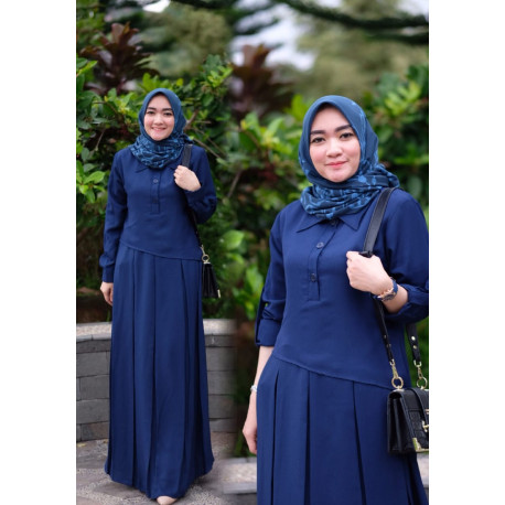Naura Dress Navy