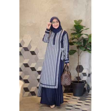 Humaira Dress Navy