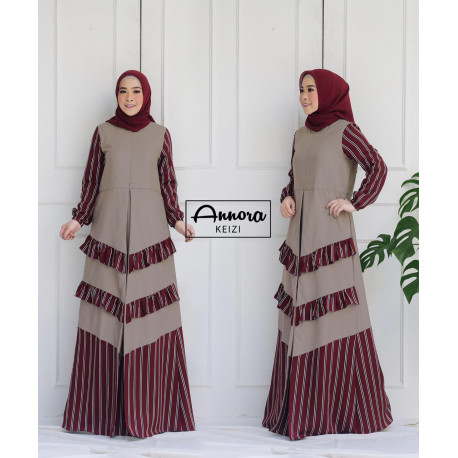 Keizi Dress Maroon